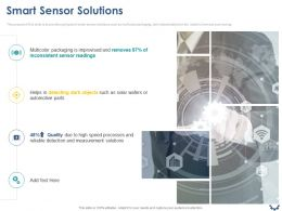 Smart Sensor Solutions Ppt Powerpoint Presentation Icon Graphics Pictures