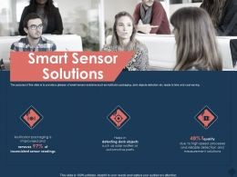 Smart Sensor Solutions Solar Wafers Ppt Powerpoint Presentation Professional Images