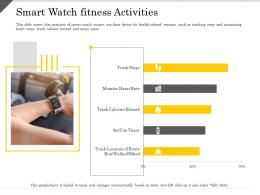 Smart Watch Fitness Activities Ppt Powerpoint Presentation Layouts Slides