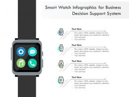 Smart Watch For Business Decision Support System Infographic Template