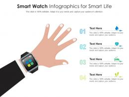 Smart Watch For Smart Life Infographic Template