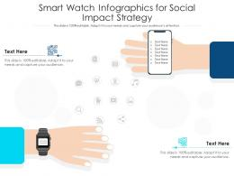 Smart Watch For Social Impact Strategy Infographic Template