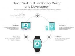 Smart Watch Illustration For Design And Development Infographic Template