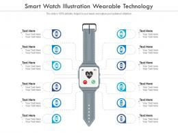 Smart Watch Illustration Wearable Technology Infographic Template