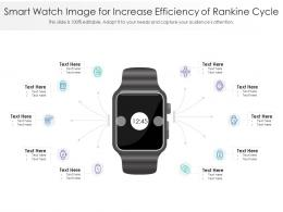 Smart Watch Image For Increase Efficiency Of Rankine Cycle Infographic Template