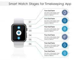Smart Watch Stages For Timekeeping App Infographic Template