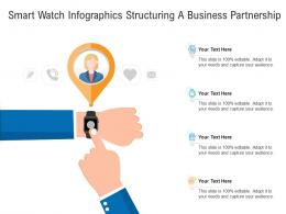 Smart Watch Structuring A Business Partnership Infographic Template
