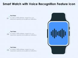 Smart Watch With Voice Recognition Feature Icon