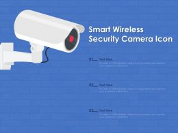 Smart Wireless Security Camera Icon