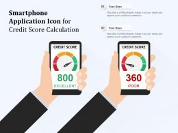 Smartphone Application Icon For Credit Score Calculation