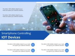 Smartphone Controlling IOT Devices