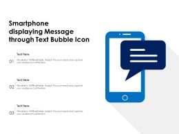 Smartphone Displaying Message Through Text Bubble Icon