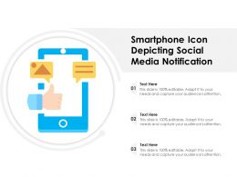 Smartphone Icon Depicting Social Media Notification