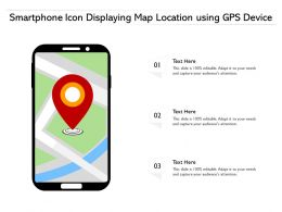 Smartphone Icon Displaying Map Location Using GPS Device