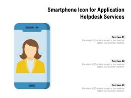 Smartphone Icon For Application Helpdesk Services