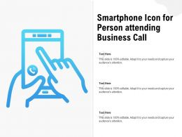 Smartphone Icon For Person Attending Business Call