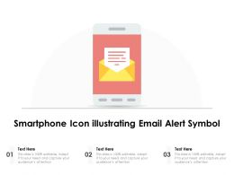 Smartphone Icon Illustrating Email Alert Symbol