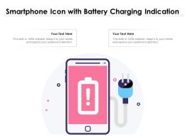Smartphone Icon With Battery Charging Indication
