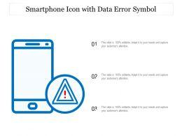 Smartphone Icon With Data Error Symbol