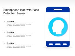 Smartphone Icon With Face Detection Sensor