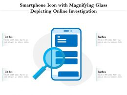 Smartphone Icon With Magnifying Glass Depicting Online Investigation