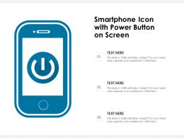 Smartphone Icon With Power Button On Screen