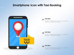 Smartphone Icon With Taxi Booking