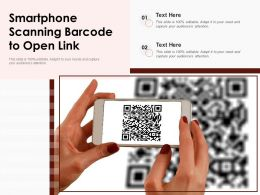 Smartphone Scanning Barcode To Open Link