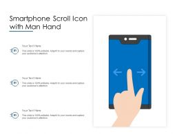 Smartphone Scroll Icon With Man Hand