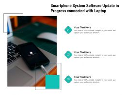Smartphone System Software Update In Progress Connected With Laptop