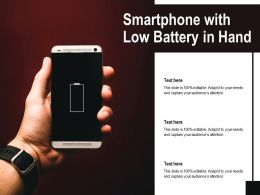 Smartphone With Low Battery In Hand