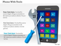 Smartphone With Wrench And Screwdriver