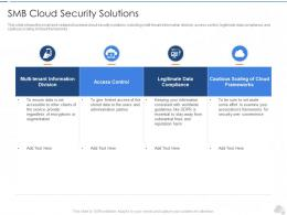 SMB Cloud Security Solutions Cloud Security IT Ppt Graphics