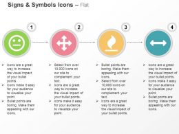 Smiley Arrows Fire Arrow Horizontal Ppt Icons Graphics