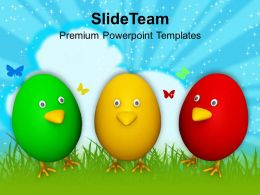 Smiley Easter Eggs For Wishes Powerpoint Templates Ppt Themes And Graphics 0313
