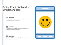 Smiley Emoji Displayed On Smartphone Icon