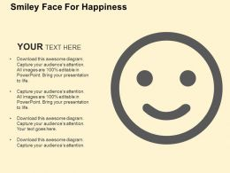 Smiley Face For Happiness Flat Powerpoint Design