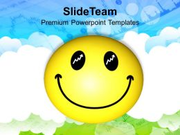 smiley face over cloudy background powerpoint templates ppt themes and graphics 0213