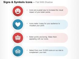Smiley Heart Basket Emoticons Ppt Icons Graphics