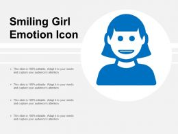 Smiling Girl Emotion Icon