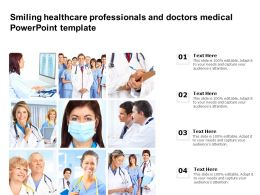 Smiling Healthcare Professionals And Doctors Medical Powerpoint Template