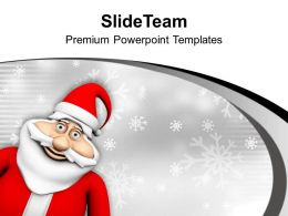Smiling Santa Claus Christmas Festival PowerPoint Templates PPT Themes And Graphics