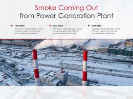 Smoke Coming Out From Power Generation Plant