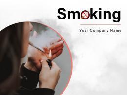 Smoking Designated Burn Circular Presence Illuminated