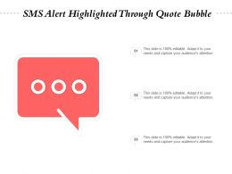 SMS Alert Highlighted Through Quote Bubble