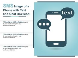 Sms Image Of A Phone With Text And Chat Box Icon