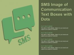 Sms Image Of Communication Text Boxes With Dots