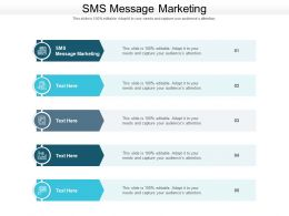 SMS Message Marketing Ppt Powerpoint Presentation Model Microsoft Cpb