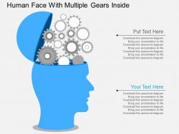 sn Human Face With Multiple Gears Inside Flat Powerpoint Design