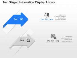 Sn Two Staged Information Display Arrows Powerpoint Template